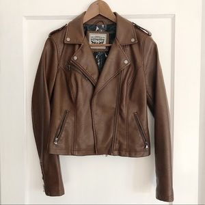 Cognac Moto Jacket